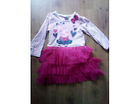 GORGEOUS PEPPA PIG GIRLS PARTY DRESS AGE 3 - 4 YEARS