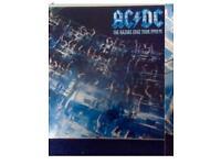 AC/DC RAZORS EDGE WORLD TOUR PROGRAMME FULLY SIGNED BY BAND PLUS ORIGINAL TOUR T SHIRT STILL WRAPPED