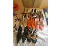 Size 6 heels. 8 pairs some new some worn few times