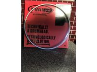 £15 X2 NEW EVANS G1 LEVEL 360 CLEAR 12 inch DRUM HEAD