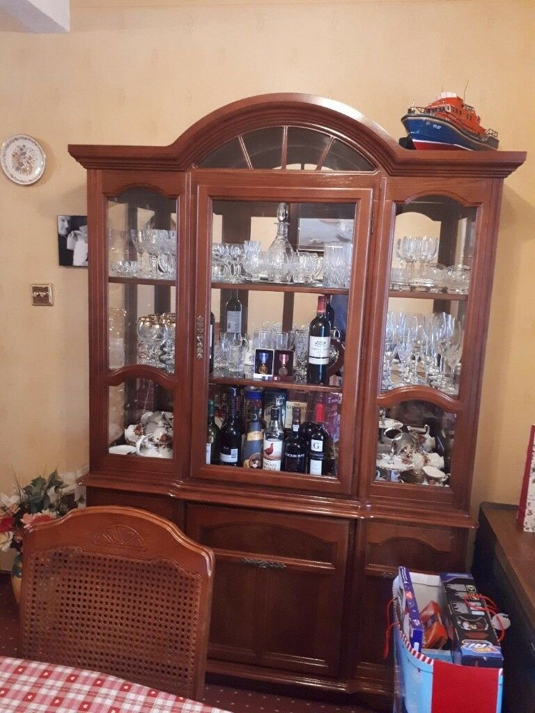 Contemporary Dining Room Dresser Display Cabinet
