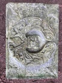 Hand carved bespoke green man stone carving