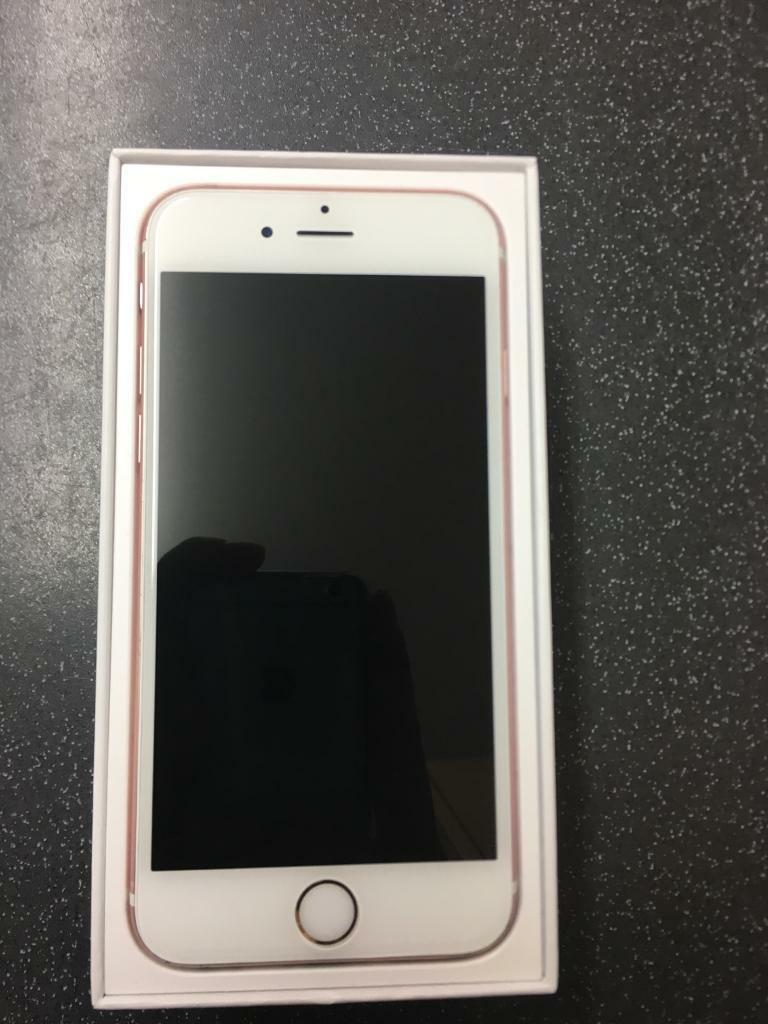 iPhone 6s Rose Gold (EEin Sherwood, NottinghamshireGumtree - IPhone 6s Rose Gold working in good order, in good condition, has a few scratches and dents shown in pictures, Includes IPhone 6s 16GB (EE)Box Charger 260 ONO