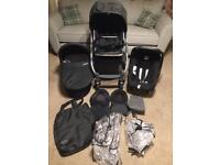 Black mothercare Oyster travel system pushchair