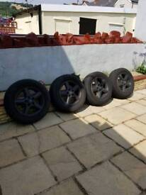 16 inch Wheels for nissan xtrail all tyres nearly new