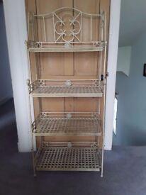 Decorative metal shelves