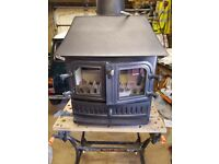 Multi fuel log burner for sale , new fire bricks ,new rope door seals and new glass
