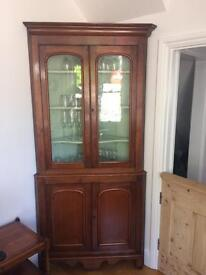 Antique corner drinks cabinet