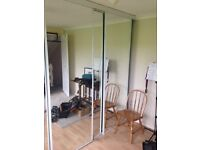 Four Sliding Walldrobe Doors - Glass Mirrored, with tracking