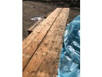 Reclaimed 7 inch square edge pine flooring
