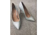 Size 6 silver shoes