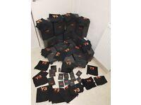 MEGA PACK Y3 ADIDAS YOHJI YAMAMOTO - BOXES BAGS LACES TAGS Y-3