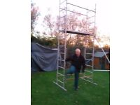 4mt high DIY Scaffold Tower 1.5mt x 0.5mt