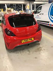 Vauxhall corsa VXR VXracing limited edition