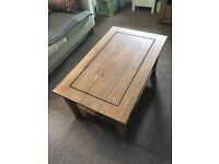 Solid wood, elegant coffee table