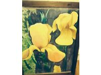 HAND PAINTED FLOWER OIL PAINTING (EXCELLENT CONDITION)
