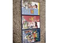 43 children's DVDs.