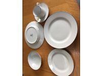 Royal Worcester Classic Platinum Dinner set for 8 settings. Unused & in original boxes