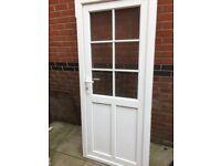 UPVC WHITE BACK DOOR