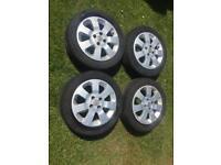 "Corsa alloys and tyres 15"""