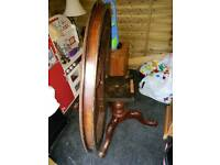 Round goergian tilt top table with 2 chairs