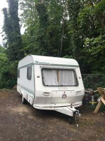 Small stationary caravan for rent