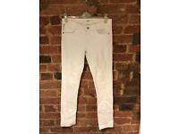 White Topshop Baxter Jeans