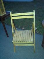 3 wooden folding chairs  $10. each or 3 for $25