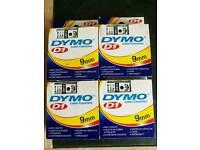 DYMO D1 LABEL CASSETTES x4