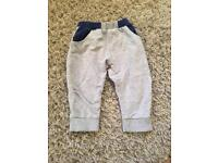 Boots mini club grey and navy baby joggers 9-12 months