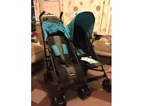 Obaby twin/double umbrella fold pushchair/buggy