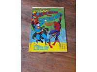 Retro DC Marvel comic magazine spiderman superman 1981 collectable
