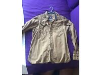 Men's g-star raw denim shirt military khaki style size M