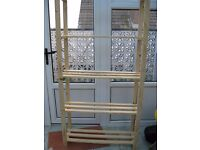 unused 5 shelf storage/ display/ bookcase unit in pine wood can be painted any colour