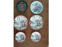 6 Ornamental Plates