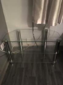 Glass Three Tiered TV Stand