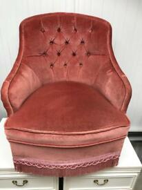 Pink bedroom chair FREE DELIVERY PLYMOUTH AREA