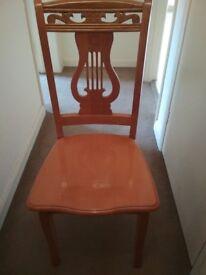 x5 Wood chairs