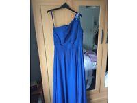 2x Angelique Lamont royal blue bridesmaid dresses