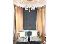 Heavy velvet curtains set of 3