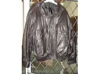 Leather Jacket Gurteen Label XL size Saban Real Leather