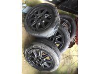 """15"""" black alloy wheels 4/100"""