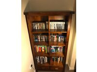 Solid acacia wood bookcase with draws (DFS Shiraz)