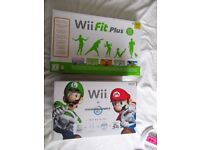 Wii Mario Kart Pack and Wii Fit Plus