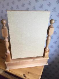 Pine dressing table mirror.