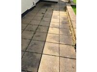 Approx 25m2 of patio slab - 130+ square slabs 44cmx44cm