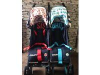 Cosatto twin stroller bro & sis