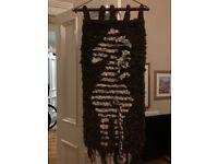 African zebra vintage wool decor tapestry.