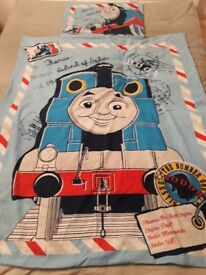 Thomas the tank engine cot bed sized duvet cover and pillow case.