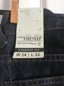 Brand new firetrap jeans w34 l32